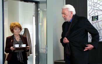 As Imogen Frost in Crossing Lines with Donald Sutherland